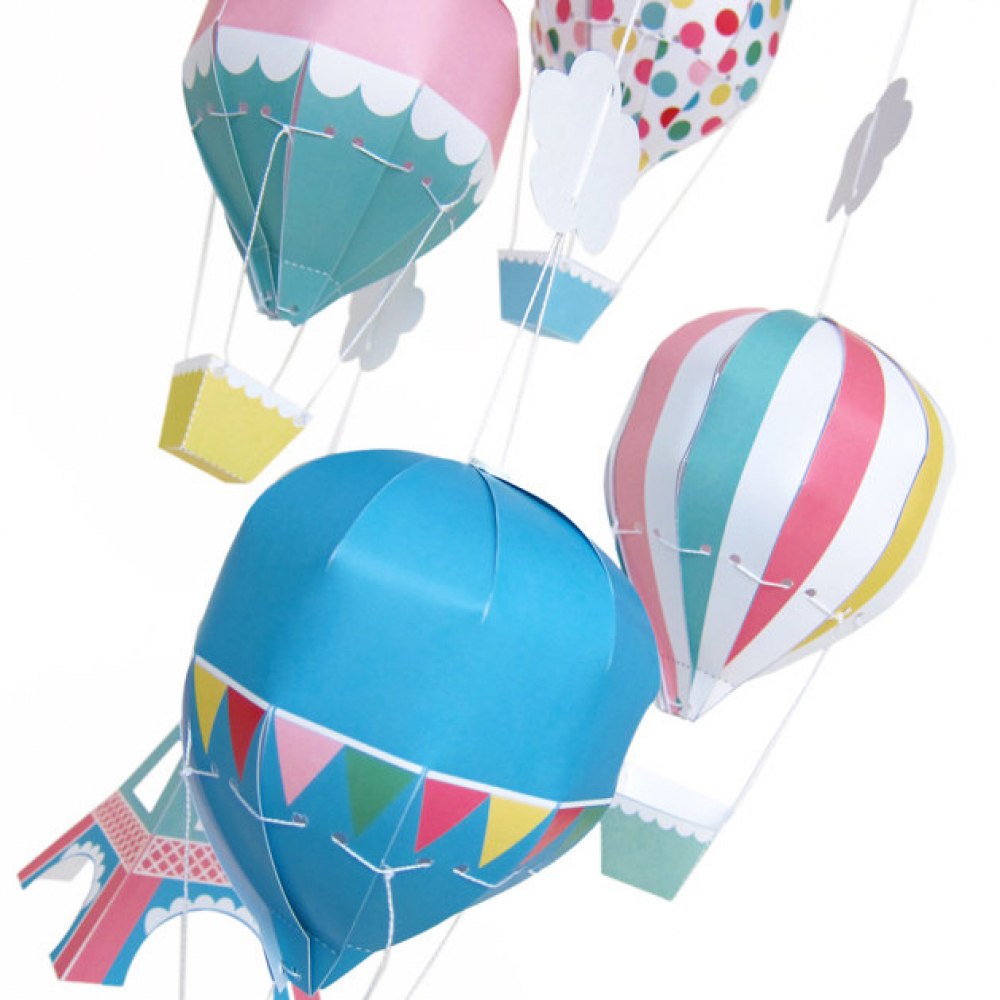 how to make air balloon with paper