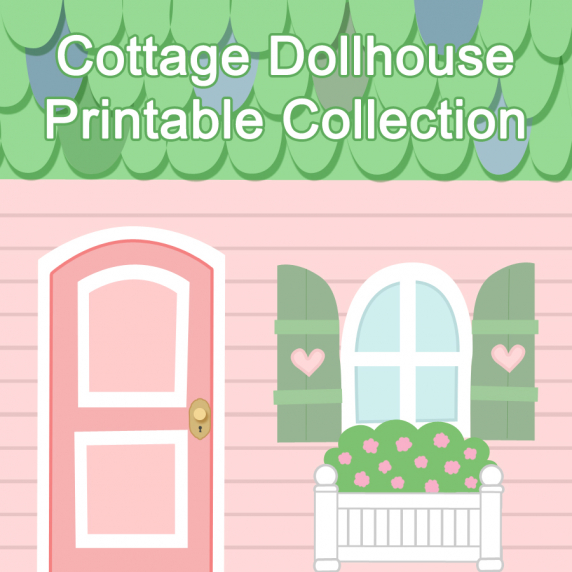 Cottage Dollhouse Printable Collection Fantastic Toys