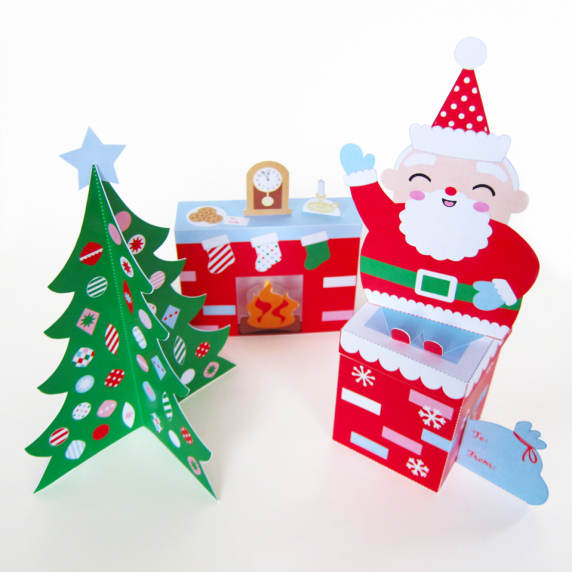 Cozy christmas paper craft decorations