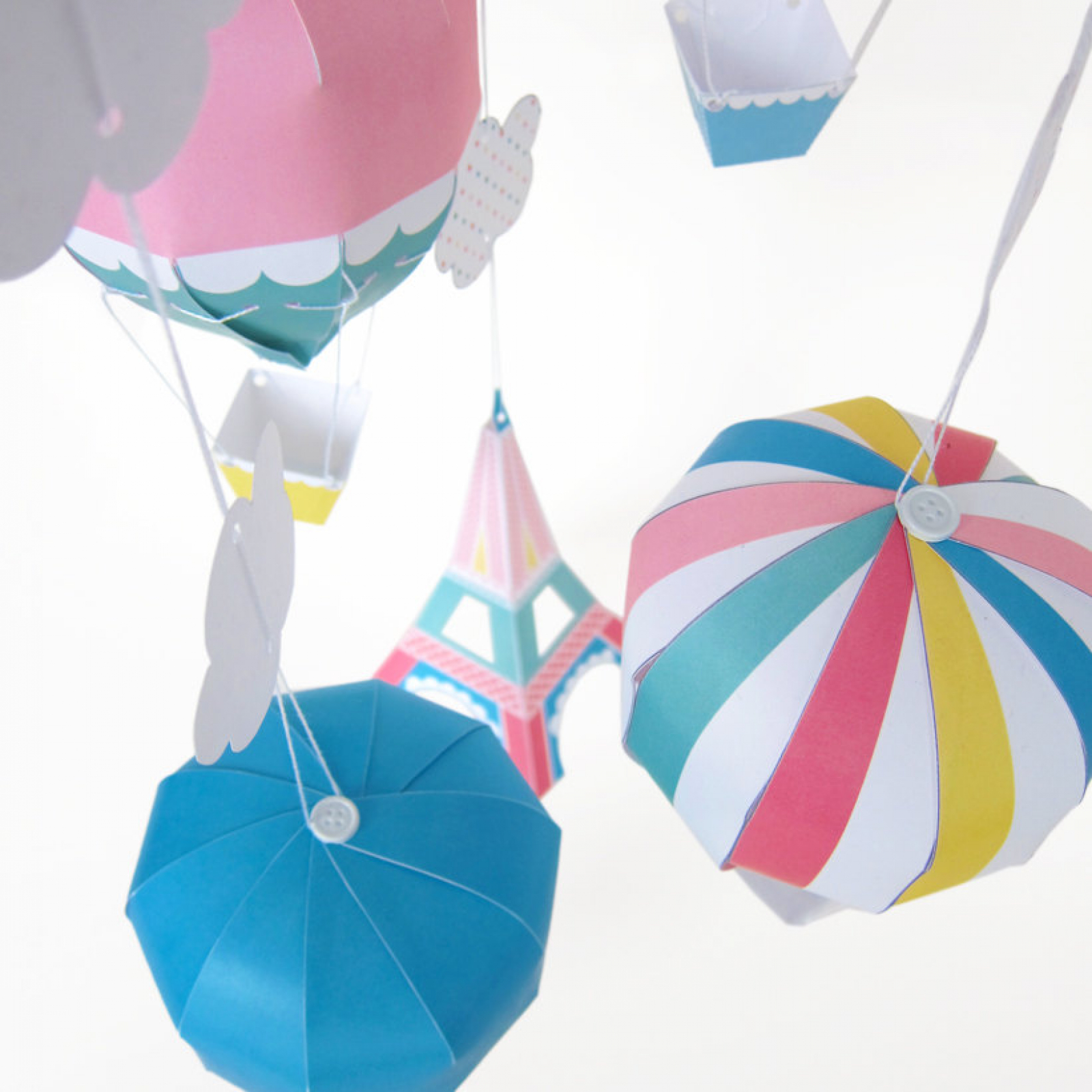 Paper Craft Hot Air Balloon Toy
