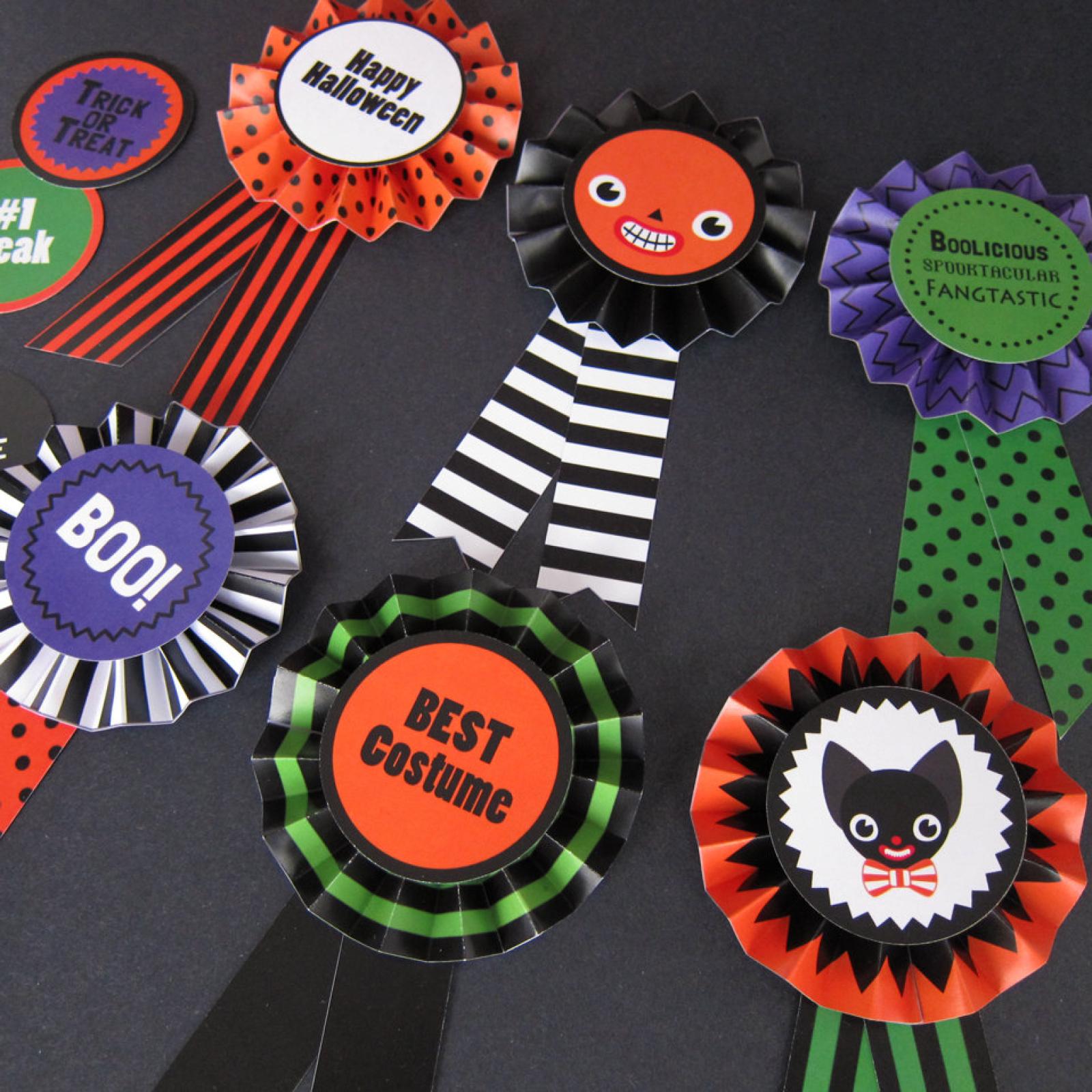 halloween paper award ribbons printable paper craft fantastic toys