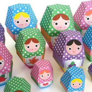 Paper Nesting Dolls