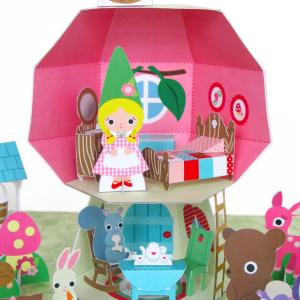 Mushroom Cottage Dollhouse