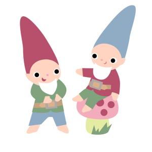 Laughing Gnomes Illustration