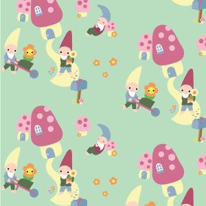 Garden Gnomes Surface Pattern