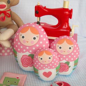 Nesting Doll Cut and Sew Dolls